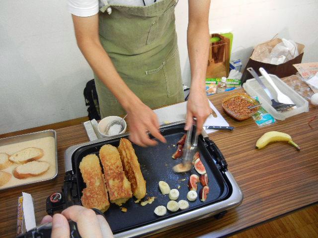 ザクロとバナナを焼きます。