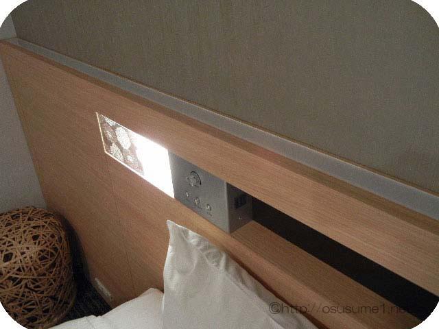 枕元のライト