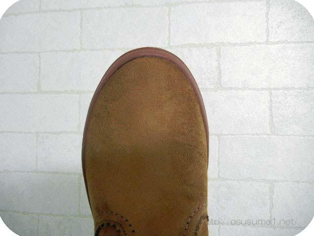 ロッジポイント シンセティック スエード ブーツ つま先