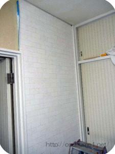壁紙をカットする。
