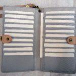 フェリシモで「がま口長財布」と「リール付きパスケース」注文しました。