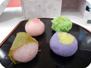 4種類の上生菓子