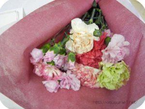 カーネーションの花束